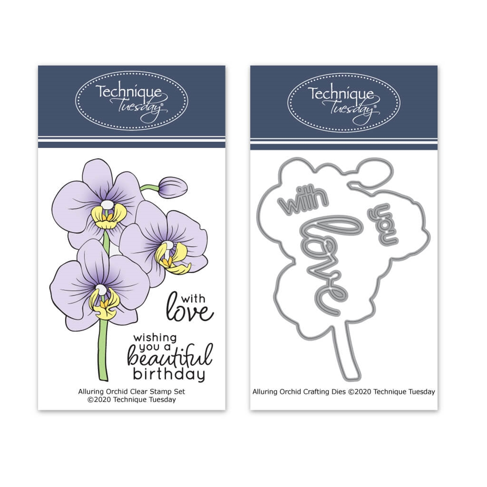 Technique Tuesday ALLURING ORCHID Clear Stamps and Dies 02384 zoom image