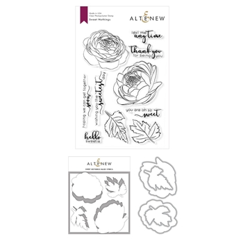 Altenew SWEET NOTHINGS Clear Stamp, Die and Mask Stencil Bundle ALT3947