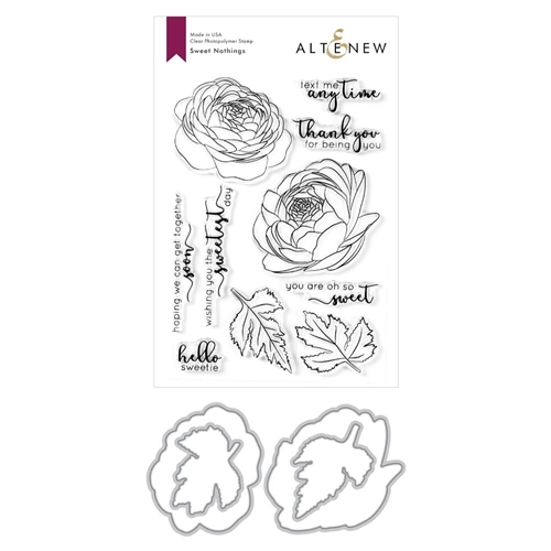 Altenew SWEET NOTHINGS Clear Stamp and Die Bundle ALT3946 Preview Image