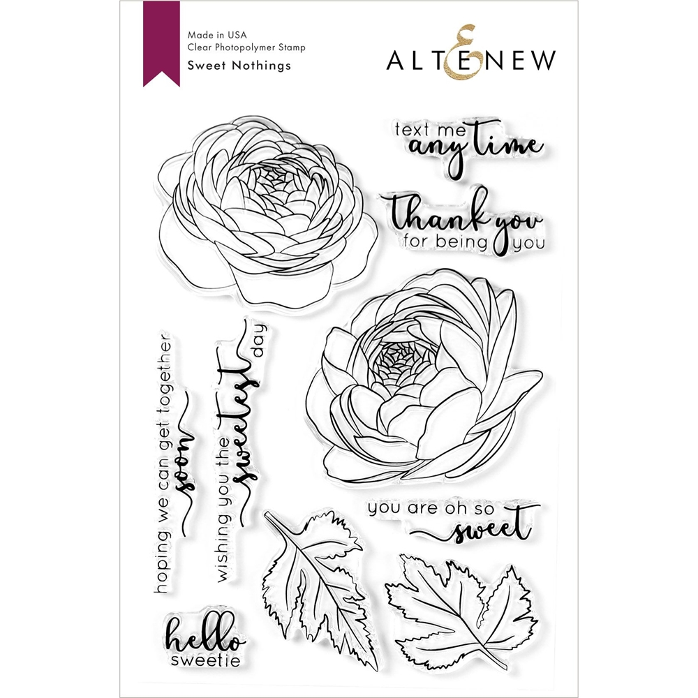 Altenew SWEET NOTHINGS Clear Stamps ALT3943 zoom image