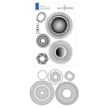 Altenew SPHERES AND SPIRALS Clear Stamp and Die Bundle ALT3942