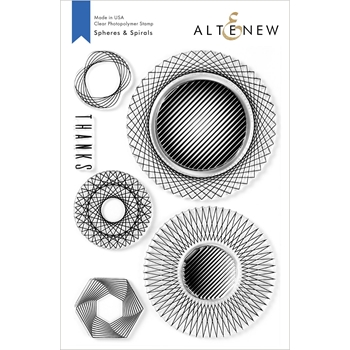 Altenew SPHERES AND SPIRALS Clear Stamps ALT3940