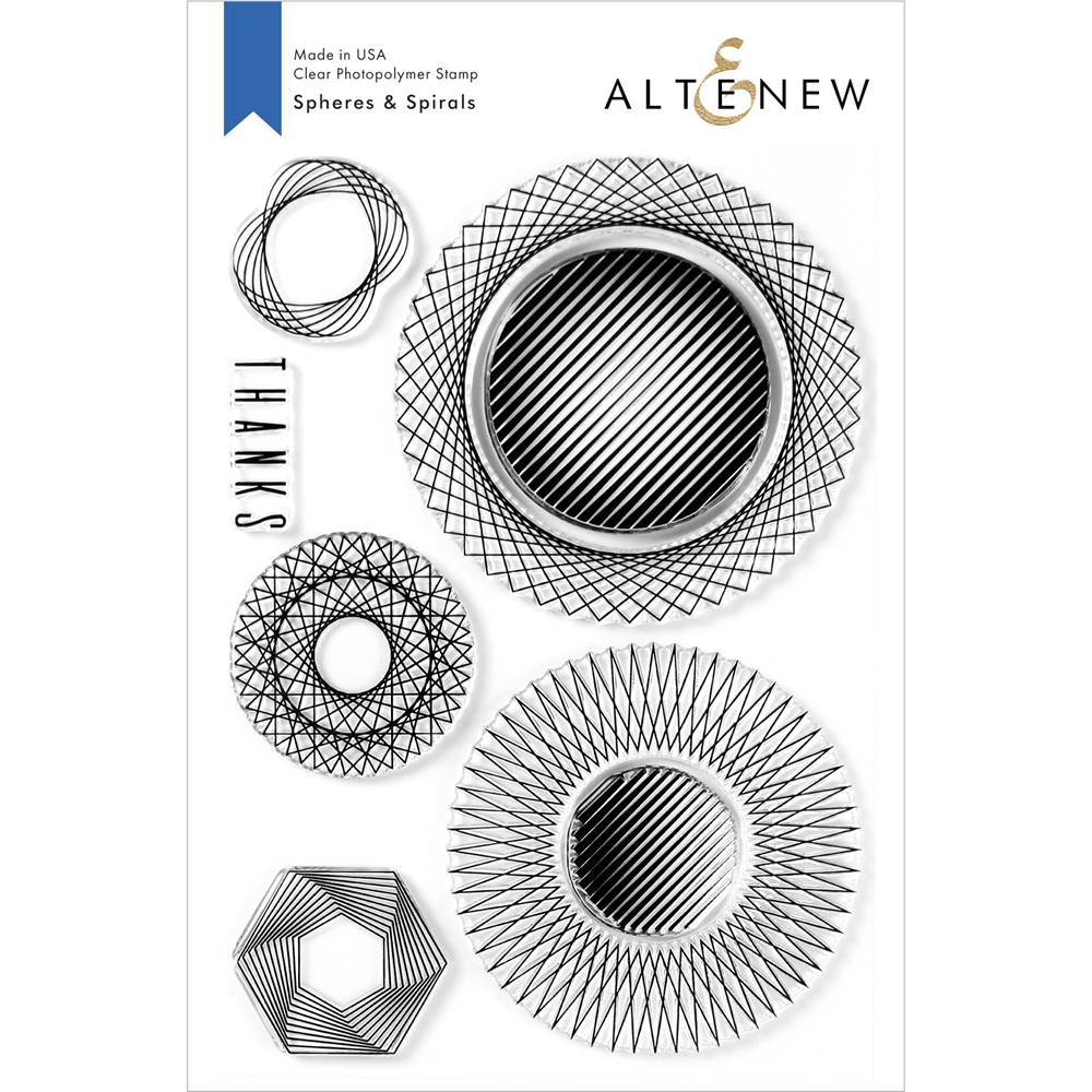 Altenew SPHERES AND SPIRALS Clear Stamps ALT3940 zoom image