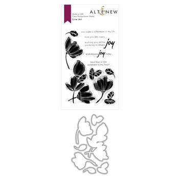 Altenew LINE ART Clear Stamp and Die Bundle ALT3936