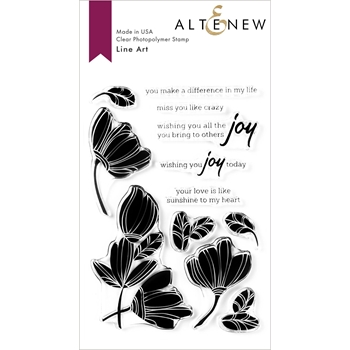 Altenew LINE ART Clear Stamps ALT3934