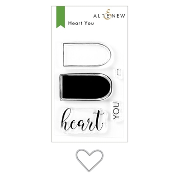 Altenew HEART YOU Clear Stamp and Die Bundle ALT3933