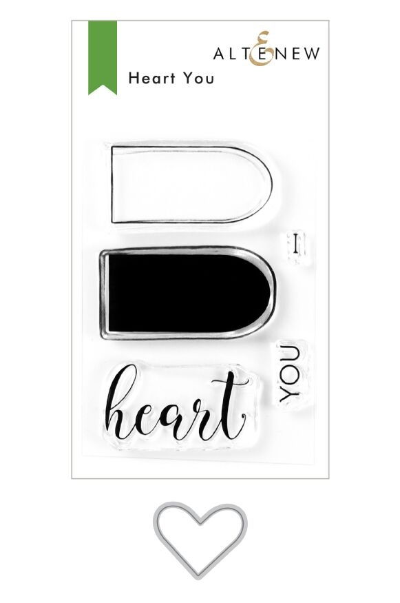 Altenew HEART YOU Clear Stamp and Die Bundle ALT3933 zoom image