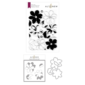 Altenew FABULOUS FLORETS Clear Stamp, Die, and Mask Stencil Bundle ALT3929BN-2