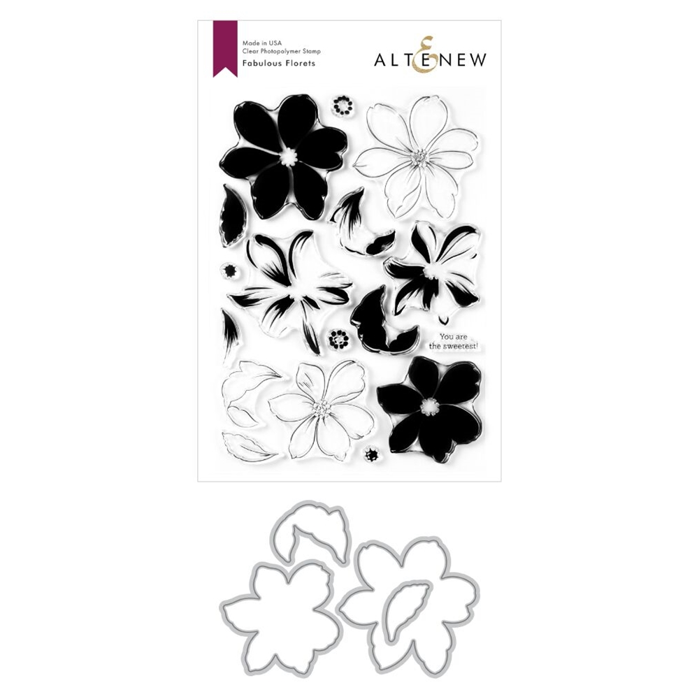 Altenew FABULOUS FLORETS Clear Stamp and Die Bundle ALT3929BN-1 zoom image