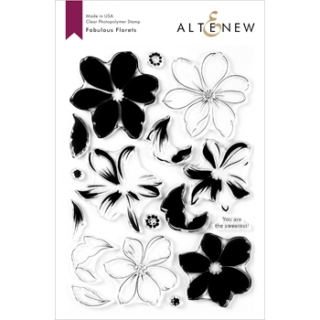 Altenew FABULOUS FLORETS Clear Stamps ALT3927