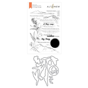 Altenew ALL THINGS ORANGE Clear Stamp and Die Bundle ALT3926