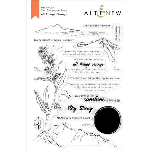 Altenew ALL THINGS ORANGE Clear Stamps ALT3924 Preview Image