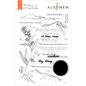 Altenew ALL THINGS ORANGE Clear Stamps ALT3924