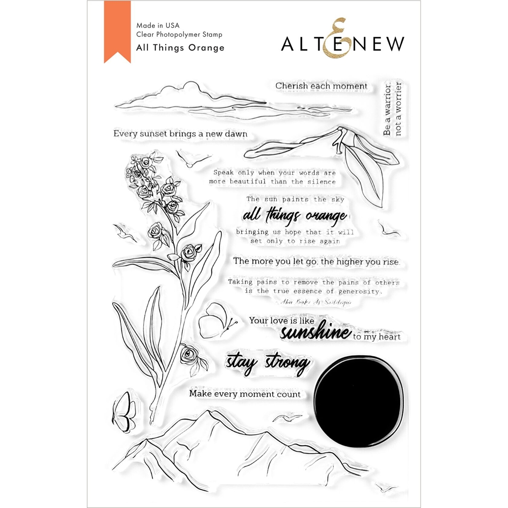 Altenew ALL THINGS ORANGE Clear Stamps ALT3924 zoom image