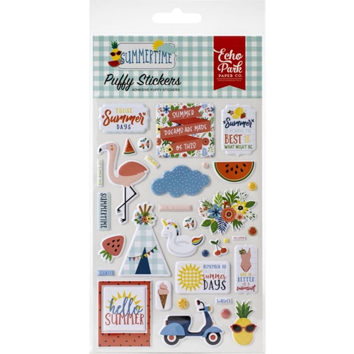 Echo Park SUMMERTIME Puffy Stickers sum209066 Preview Image