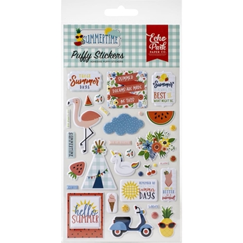 Echo Park SUMMERTIME Puffy Stickers sum209066