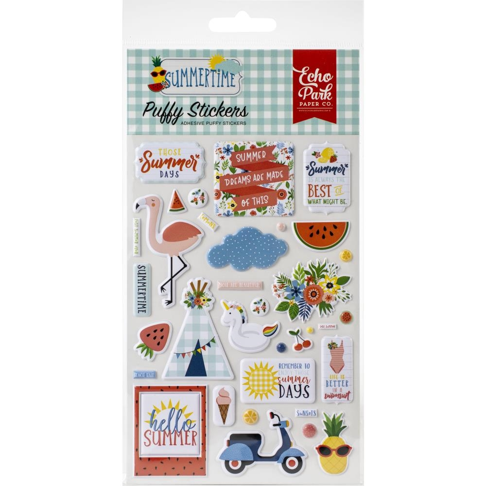 Echo Park SUMMERTIME Puffy Stickers sum209066 zoom image