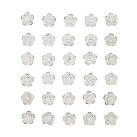 Darice SILVER RHINESTONE FLOWER Bling Stickers 30053632 Preview Image