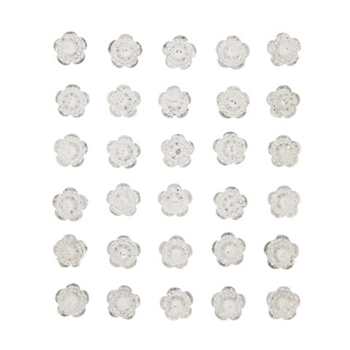 Darice SILVER RHINESTONE FLOWER Bling Stickers 30053632