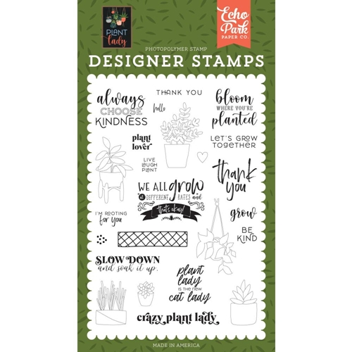 Echo Park PLANT LOVER Clear Stamps pla211040 Preview Image