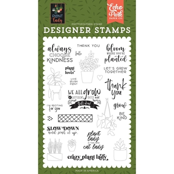 Echo Park PLANT LOVER Clear Stamps pla211040