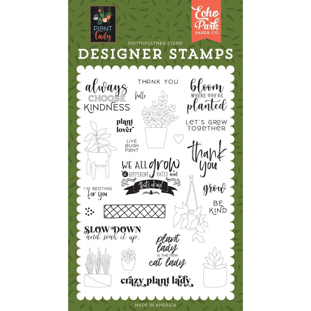Echo Park PLANT LOVER Clear Stamps pla211040 zoom image