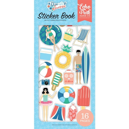 Echo Park DIVE INTO SUMMER Sticker Book dis210029 Preview Image