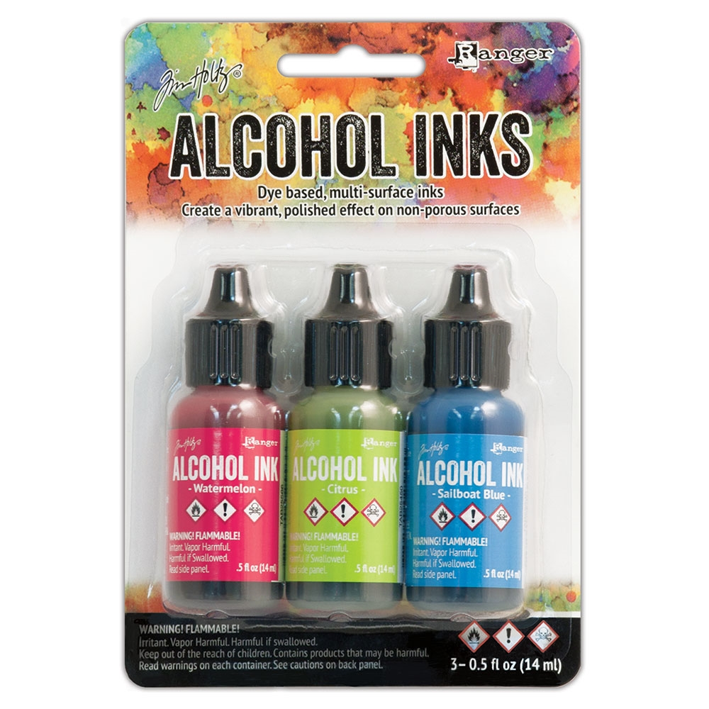 Tim Holtz Alcohol Ink Set DOCKSIDE PICNIC Ranger TAK25962 zoom image