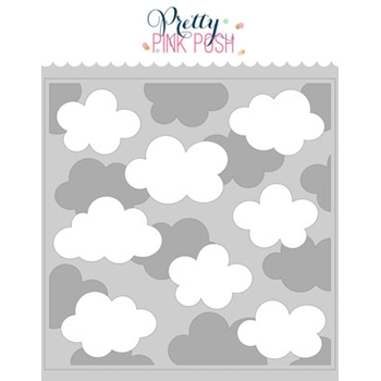Pretty Pink Posh LAYERED CLOUDS Stencils