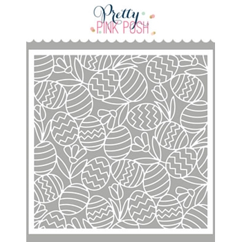 Pretty Pink Posh EASTER BACKGROUND Stencil