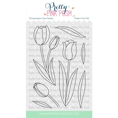 Pretty Pink Posh TULIPS Clear Stamps Preview Image