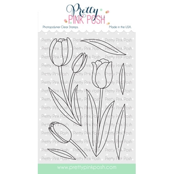 Pretty Pink Posh TULIPS Clear Stamps