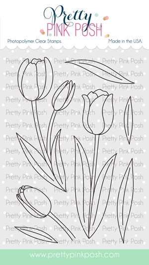 Pretty Pink Posh TULIPS Clear Stamps zoom image