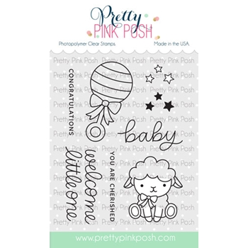 Pretty Pink Posh LITTLE ONE Clear Stamps
