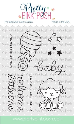Pretty Pink Posh LITTLE ONE Clear Stamps zoom image