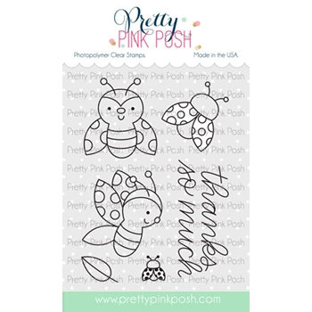 Pretty Pink Posh LADYBUG FRIENDS Clear Stamps