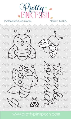 Pretty Pink Posh LADYBUG FRIENDS Clear Stamps zoom image