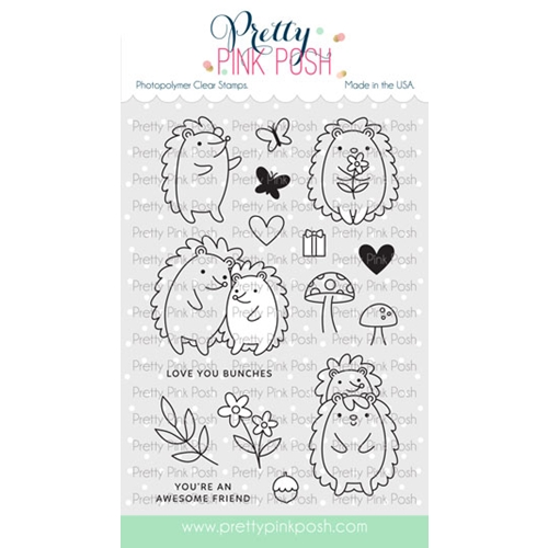 Pretty Pink Posh HEDGEHOG FRIENDS Clear Stamps Preview Image
