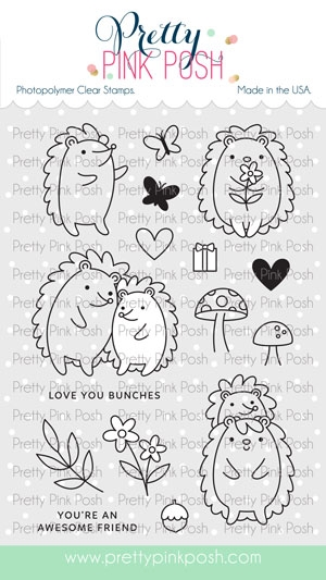 Pretty Pink Posh HEDGEHOG FRIENDS Clear Stamps zoom image