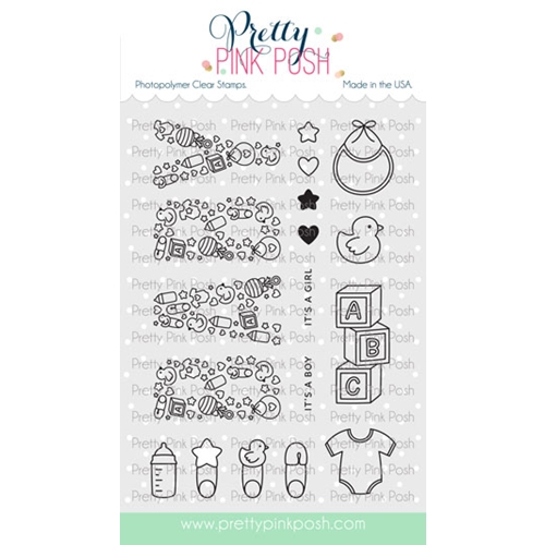 Pretty Pink Posh BABY Clear Stamps Preview Image