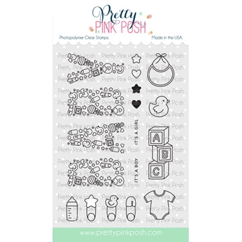 Pretty Pink Posh BABY Clear Stamps