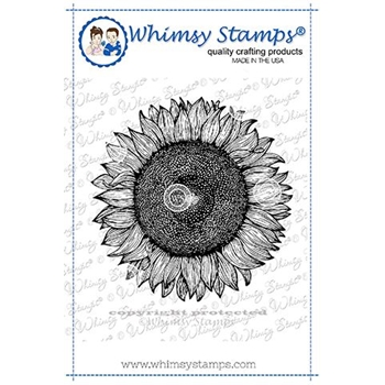 Whimsy Stamps SUNFLOWER BACKGROUND Cling Stamp DDB0039