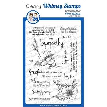Whimsy Stamps SYMPATHY SO DEEPLY SORRY Clear Stamps CWSD307