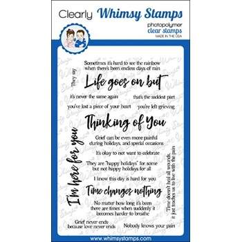 Whimsy Stamps SYMPATHY LIFE GOES ON Clear Stamps CWSD306