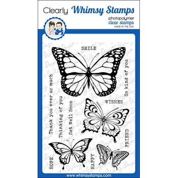 Whimsy Stamps BUTTERFLIES Clear Stamps CWSD305