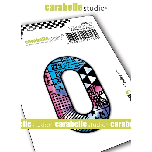 Carabelle Studio NUMBER 0 Cling Stamp smi0273 Preview Image