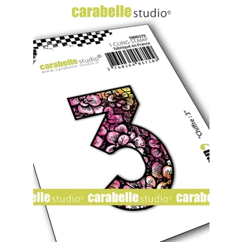 Carabelle Studio NUMBER 3 Cling Stamp smi0276