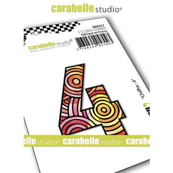 Carabelle Studio NUMBER 4 Cling Stamp smi0277