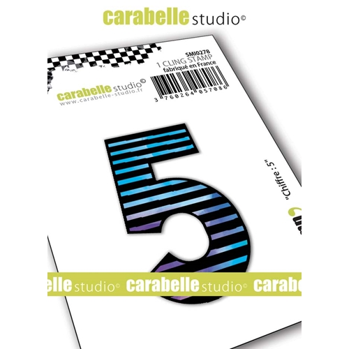 Carabelle Studio NUMBER 5 Cling Stamp smi0278 Preview Image