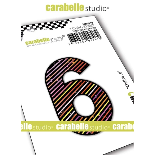 Carabelle Studio NUMBER 6 Cling Stamp smi0279 Preview Image